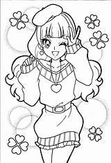 Coloring Pages Precure Glitter Princess Smile Force Fresh Anime Pretty Cure Princesses Kirara Fun Asian Colouring Sheets Getdrawings Printable Manga sketch template