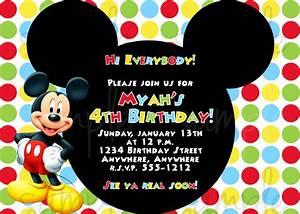 Free Printable Mickey Mouse Invitatons Birthday Drevio