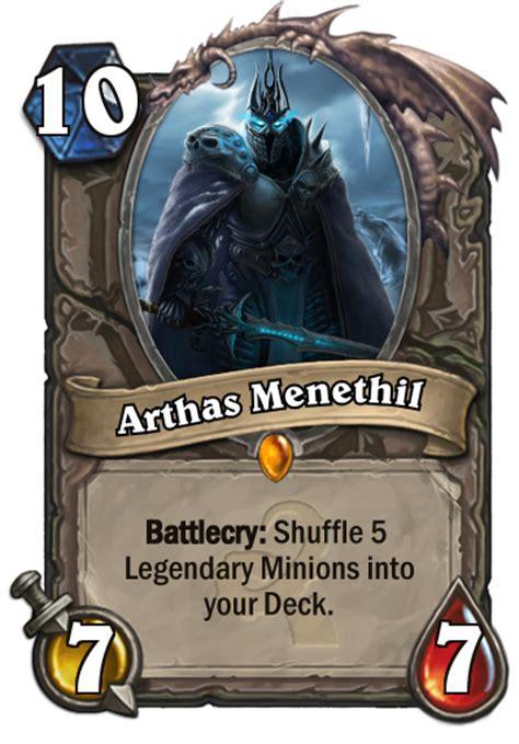 lichking legendary arthas fan creations hearthstone