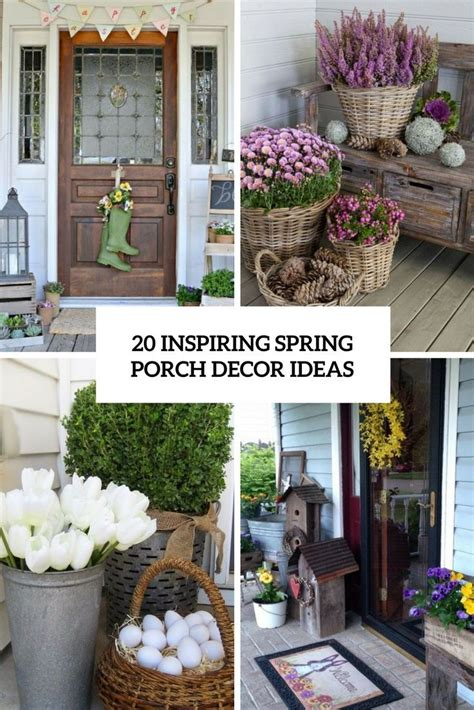 spring porch decorating ideas images  pinterest
