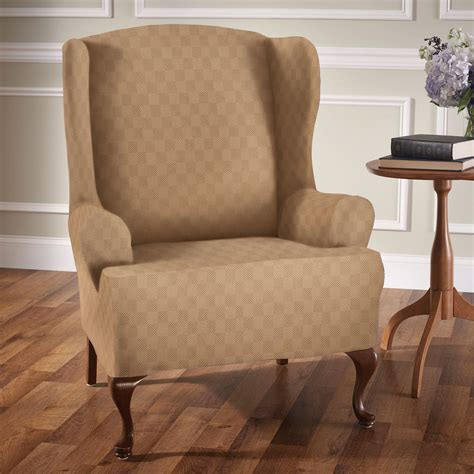 wing chairs slipcovers newport stretch wing chair slipcovers
