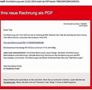 Rechnung Vodafone : phishing telekom warnt vor falschen rechnungen mit viren welt ~ Themetempest.com Abrechnung