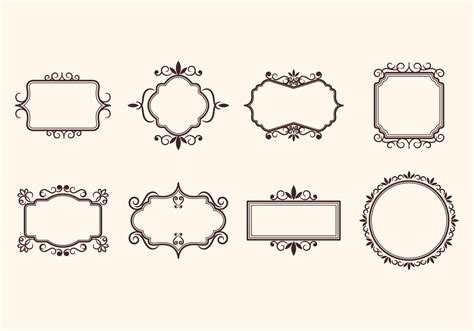 vintage retro ornamental frame vectors   vector art stock graphics images