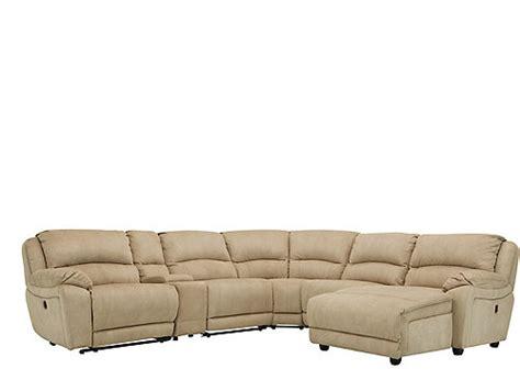 cindy crawford sectional sofa cindy crawford mackenzie 6 pc reclining sectional sofa