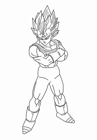 Vegeta Majin Coloring Dragon Ball Pages Drawing