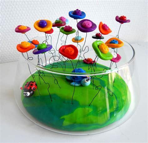 pate a l eau composition composition florale color 233 e et moderne en fimo bouquet de fleurs en fimo p 226 te polym 232 re vase