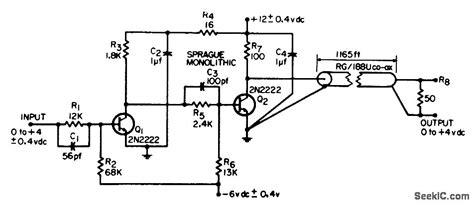 Coaxial Cable Driver Amplifier Circuit Diagram