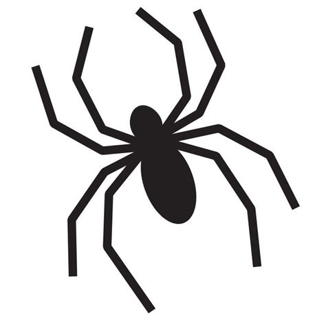 spider template spider outline printable clipart best