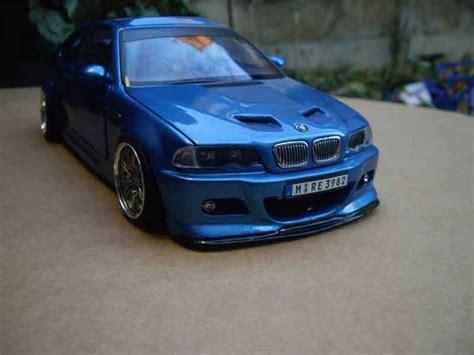 bmw m3 e46 kaufen bmw m3 e46 tuning kit carrosserie blau metallise autoart