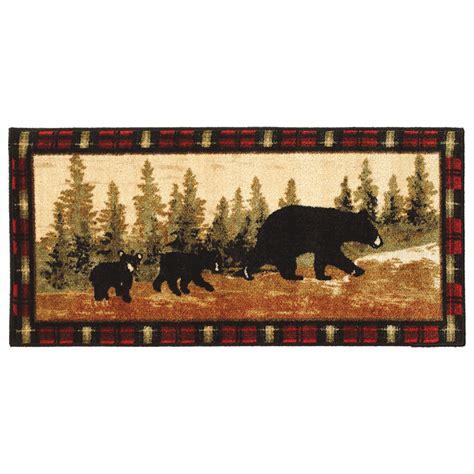 bear rugs family  bears bath rugblack forest decor