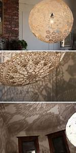 22 best images about stiffened lace on pinterest for Doily paper floor lamp