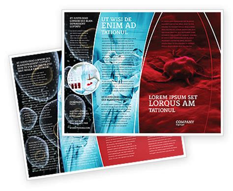 cancer cell brochure template design  layout