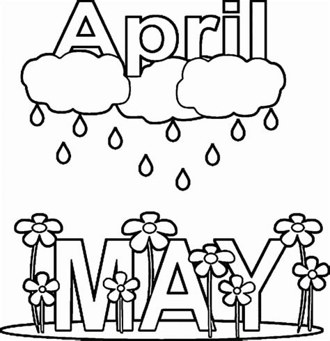 april showers coloring pages 20 free printable april coloring pages