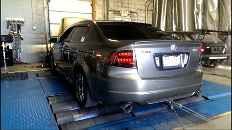 08 acura tl type s loudest dyno amazing hp xlr8 exhaust youtube