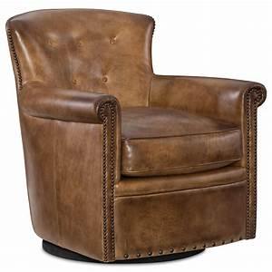 Hooker, Furniture, Jacob, Swivel, Club, Chair, With, Nailhead, Trim