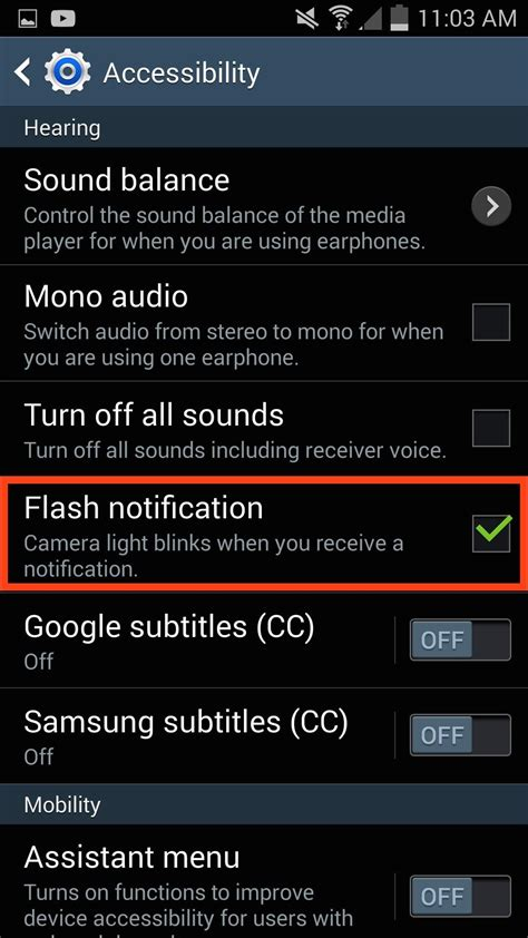 iphone flash notification enable led flash alerts for calls notifications on