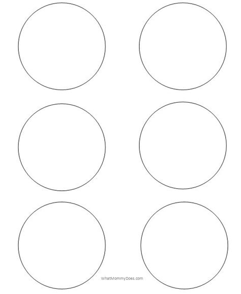 printable circle templates large small stencils
