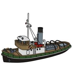 Tugboat Vector Question by Harbour Tugboat Royalty Free Vector Image Vectorstock