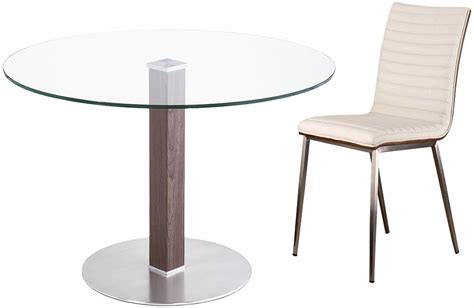 Cafe Brushed Stainless Steel Dining Room Set, LCCADIB201TO