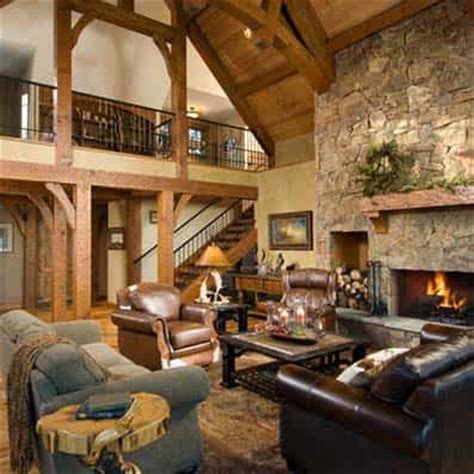 great room log homes timber homes