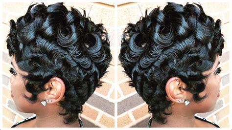 Short Pin Curl Styles Wavy Haircut