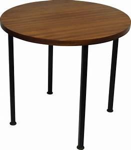 Table Basse Scandinave Ronde : table basse ronde scandinave en teck 1970 design market ~ Teatrodelosmanantiales.com Idées de Décoration