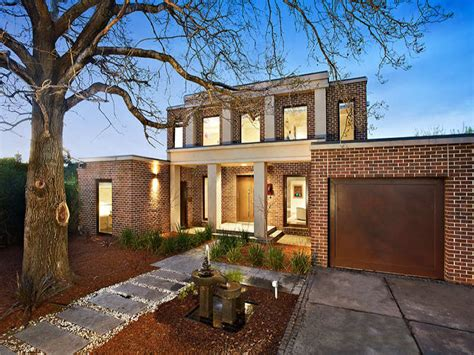 brick facade house pictures photo of a brick house exterior from real australian home
