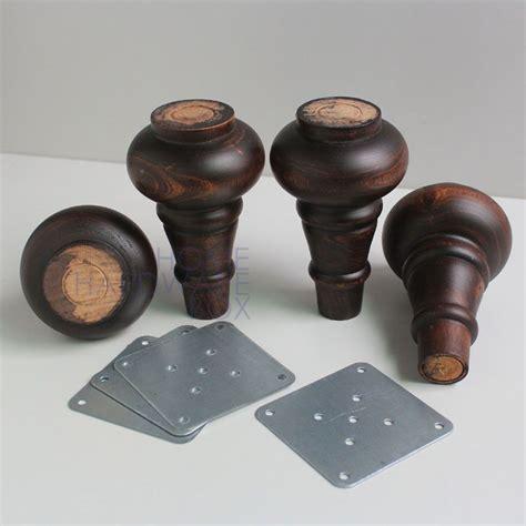 pc antique solid wood turned sofa ottoman furniture feet
