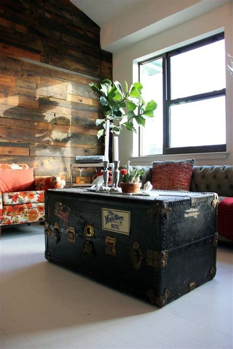 trunks turned coffee tables  bring extra