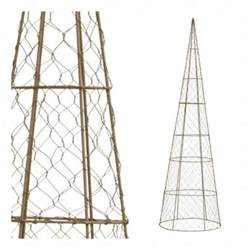 cone topiary frame from tomato cage and chicken wire garden edibles pinterest tomato