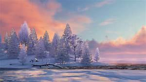 Free photo: Winter scenery - Blue, Scenery, White - Free Download - Jooinn