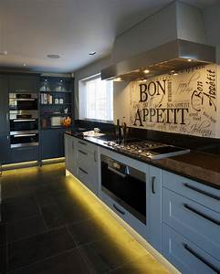 glamorous led light strips trend london contemporary With kitchen design black granite countertops