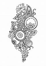 Coloring Pages Adults Flower Stress Flowers Printable Complex Zen Anti Adult Pattern Antistress Abstract Inspired Relaxation Bestcoloringpagesforkids sketch template