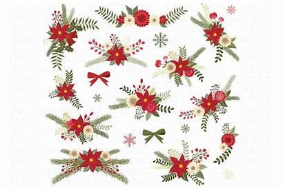 Christmas Clipart Floral Lace Borders Scrapbook Graphics