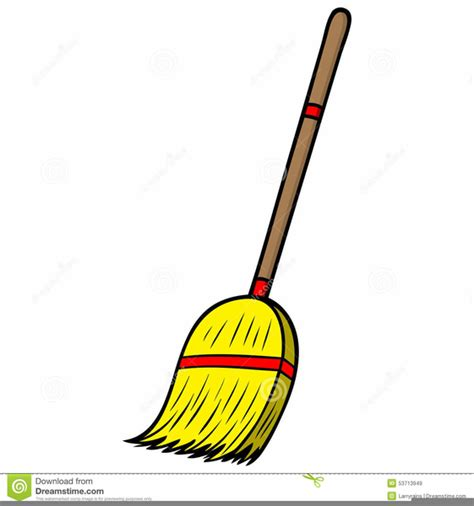 Broom Clip Brooms Clipart Free Images At Clker Vector