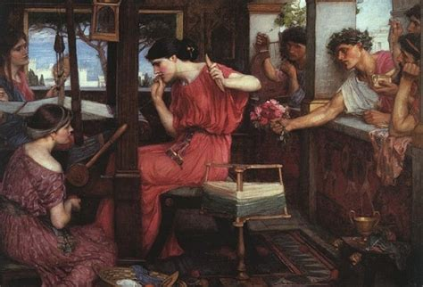 the odyssey penelope and the suitors