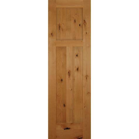 3 panel interior doors home depot 24 in x 80 in 3 panel craftsman solid knotty alder