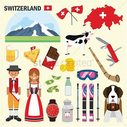 Switzerland Vector Icons Illustration Stockunlimited