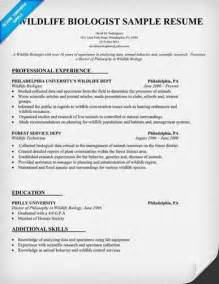 Wildlife Technician Resume by How To Write A Biologist Resume