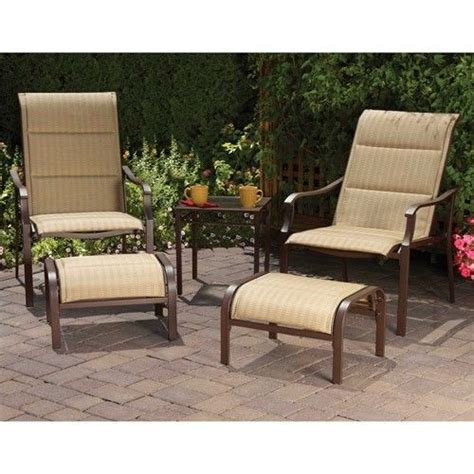 5 outdoor leisure set includes chairs ottoman and a