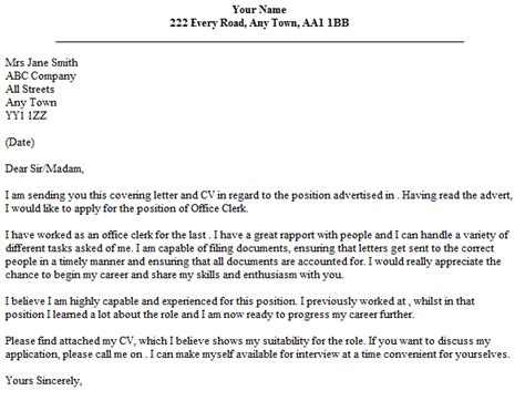 15085 applicant resume sle for clerk clerical cover letter template business
