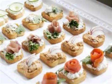 canapes finger food easy bridal shower brunch menu ideas