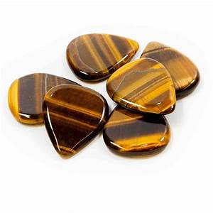 Crystal Tones semi-precious stone plectrum - Gold Tiger ...