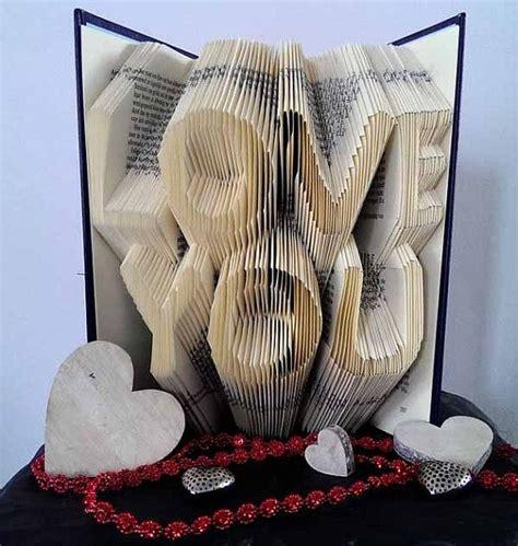 love  folded book art original anniversary gift