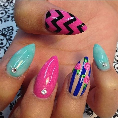 pointed nail designs 25 amazing pointed nail ideas style motivation