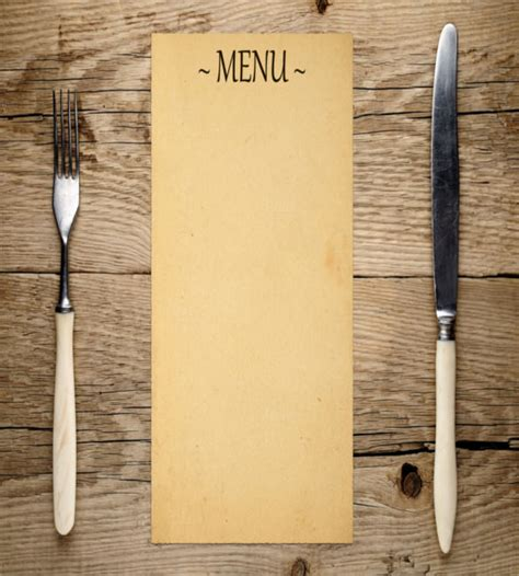 Empty Menu Templates by Blank Template 24 Free Word Excel Pdf Psd Eps