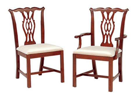 cherry chippendale dining chairs