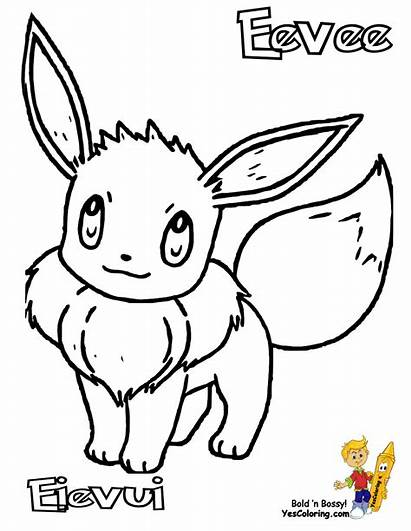 Pokemon Coloring Pages Eevee Printable Mew Famous