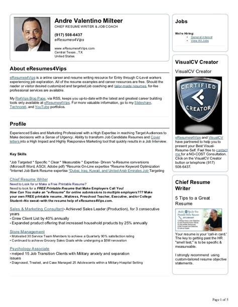 Visual Cv Resume by Andre Milteer Visual Cv Resume