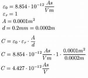 Kapazität Berechnen : kondensator ~ Themetempest.com Abrechnung